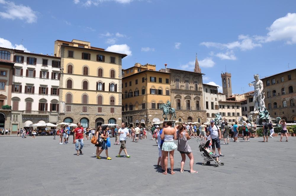 Piazza della Signoria - jeden z najsłynniejszych placów we Florencji